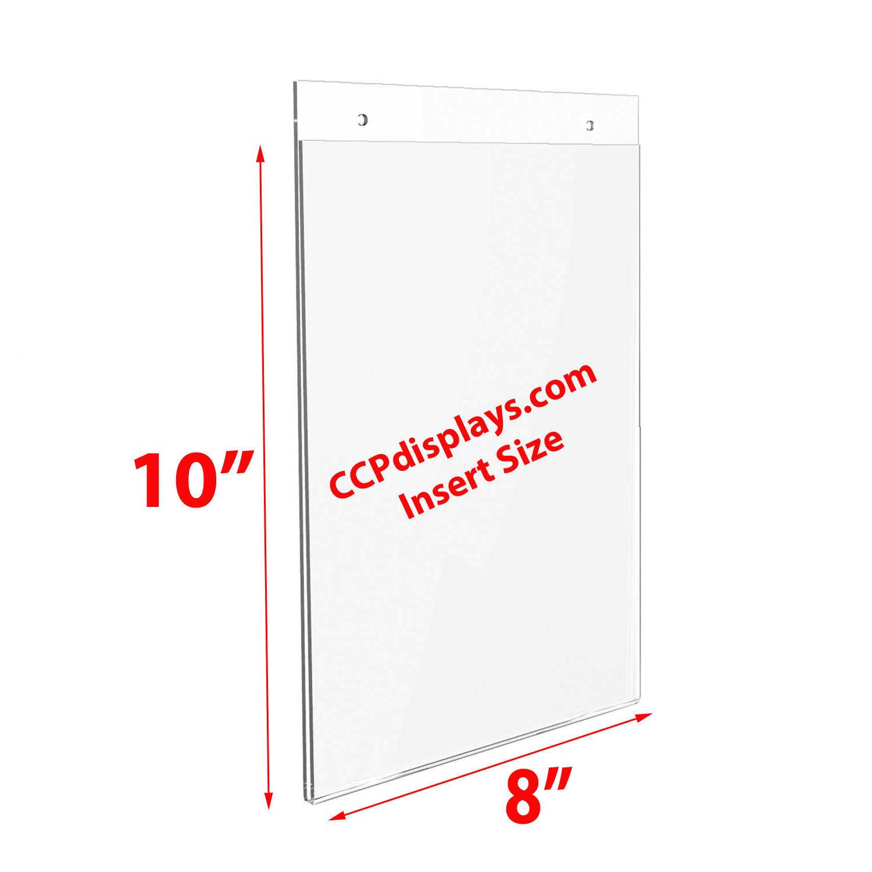 Acrylic Wall Sign Holders 8 X 10 Ccpdisplayscom