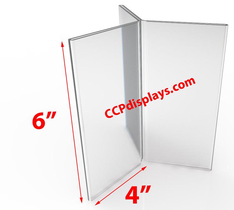 Six Sided Acrylic Sign Holder 4 X 6
