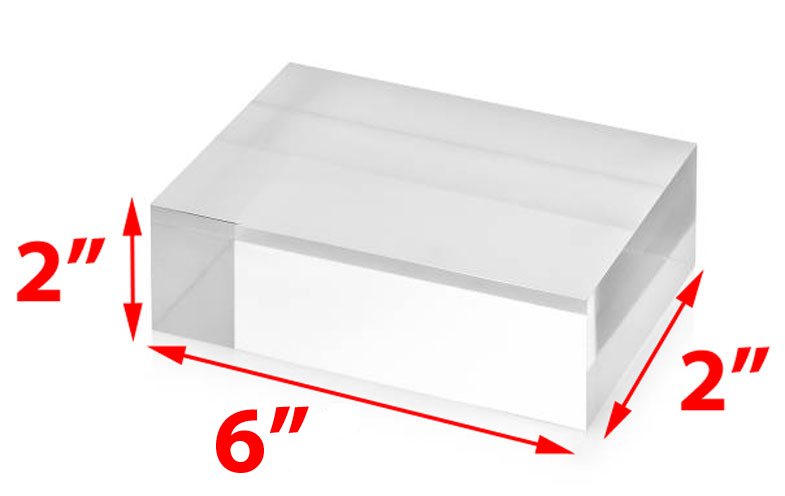 "*4 Clear Acrylic Plastic Risers Display Stand Pedestal 2/"" x 2/"" x 2/"""