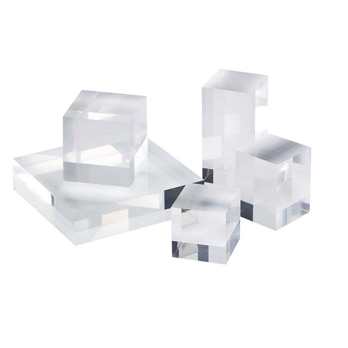 Solid Acrylic Display Blocks Buy Solid Acrylic Cube Risers
