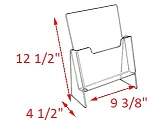 Premier Elevated Brochure Holder - 12 1/2 x 9 3/8 x 4 1/2<br>For 8 1/2 x 11
