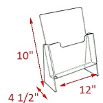 Premier Elevated Brochure Holder - 10 x 12 x 4 1/2<br>For 8 1/2 x 11 in<br>horizontal orientation