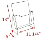 Premier Elevated Brochure Holder - 13 x 11 1/4 x 5<br>For literature