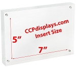 Acrylic Magnetic Sign Holder - 5
