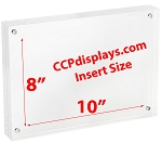 Acrylic Magnetic Sign Holder -  8