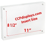 Acrylic Magnetic Sign Holder - 8 1/2
