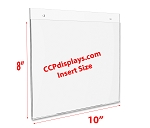 Acrylic Wall Sign Holder - 10 x 8