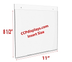 Acrylic Wall Sign Holder -11 x 8 1/2