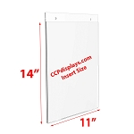 Acrylic Wall Sign Holder - 11 x 14