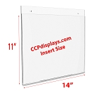 Acrylic Wall Sign Holder - 14 x 11