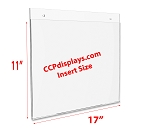 Acrylic Wall Sign Holder - 17 x 11