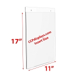 Acrylic Wall Sign Holder - 11 x 17