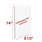 Acrylic Wall Sign Holder - 8 1/2 x 14