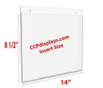 Acrylic Wall Sign Holder - 14 x 8 1/2