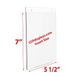 Acrylic Wall Sign Holder - 5 1/2 x 7