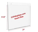 Acrylic Wall Sign Holder - 7 x 5 1/2