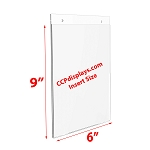 Acrylic Wall Sign Holder - 6 x 9