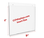 Acrylic Wall Sign Holder - 9 x 6