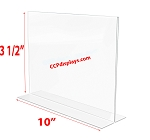 Bottom Loading Acrylic Sign Holder - 10 x 3 1/2