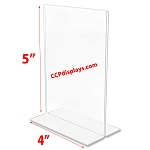 Bottom Loading Acrylic Sign Holder  - 4 x 5