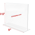 Bottom Loading Acrylic Sign Holder  - 5 x 3 1/2