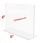 Bottom Loading Acrylic Sign Holder  - 5 x 4