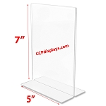 Bottom Loading Acrylic Sign Holder  - 5 x 7