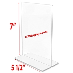 Bottom Loading Acrylic Sign Holder  - 5 1/2 x 7