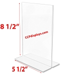Bottom Loading Acrylic Sign Holder  - 5 1/2 x 8 1/2