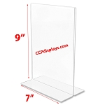 Bottom Loading Acrylic Sign Holder  - 7 x 9