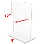 Bottom Loading Acrylic Sign Holder  - 9 x 12