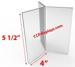 Six Sided Acrylic Sign Holder- 4 x 5 1/2