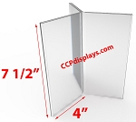Six Sided Acrylic Sign Holder- 4 x 7 1/2