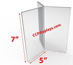 Six Sided Acrylic Sign Holder- 5 x 7