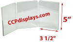 Triple Panel Acrylic Sign Holder- 3 1/2 x 5