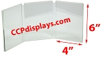 Triple Panel Acrylic Sign Holder - 4 x 6