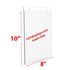 Acrylic Wall Sign Holder - 8 x 10