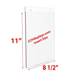 Acrylic Wall Sign Holder - 8 1/2 x 11