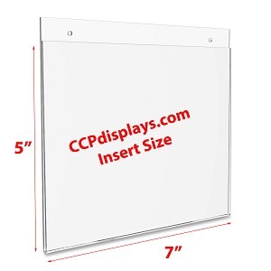 Acrylic Wall Sign Holder - 7 x 5