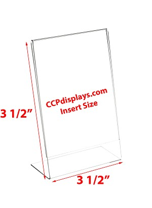 Angled Acrylic Display - 3 1/2 x 3 1/2