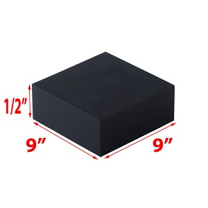 Black Acrylic Blocks - 1/2 x 9 x 9