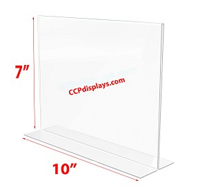 Bottom Loading Acrylic Sign Holder  - 10 x 7