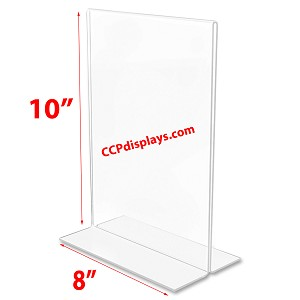 Bottom Loading Acrylic Sign Holder  - 8 x 10