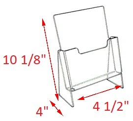 Premier Elevated Brochure Holder - 10 1/8 x 4 1/2 x 4<br>For tri fold