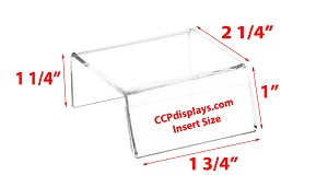 Sign-Holder Acrylic Riser - 1 1/4 x 1 3/4 x 2 1/4