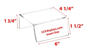 Sign-Holder Acrylic Riser - 1 3/4 x 6 x 4 1/4