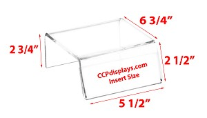 Sign-Holder Acrylic Riser - 2 3/4 x 5 1/2 x 6 3/4