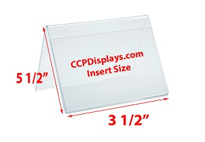 Tent Sign Display - Single - 5 1/2 x 3 1/2 x 3