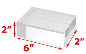 Solid Acrylic Blocks - 2 X 2 X 6