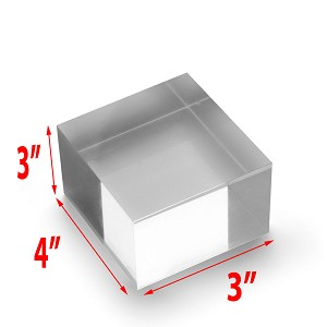 Solid Acrylic Blocks - 3 x 3 x 4
